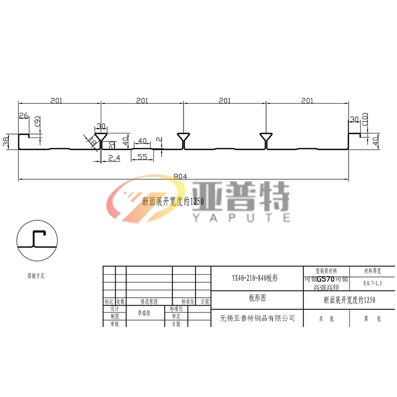 YX40-210-840板形