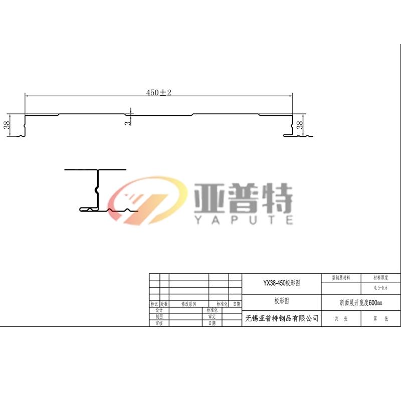 YX38-450板形圖