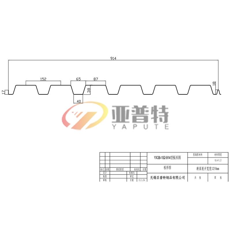 YX38-152-914型板形圖
